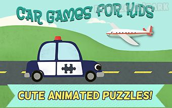 Car games for kids: puzzles