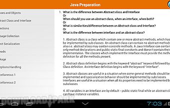 Java interview preparation