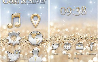 Gold & silver golauncher theme