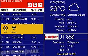 Indonesia flightboard
