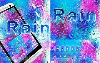 Rain emoji kika keyboard theme