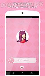 pink caller screen dialer