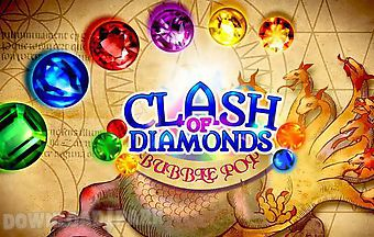 Clash of diamonds: bubble pop