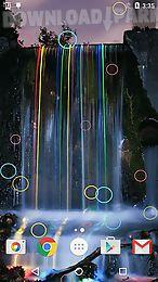 neon waterfalls