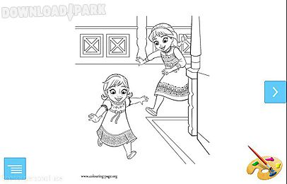 Frozen Cute Coloring Pages Z