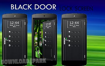 Black door screen lock