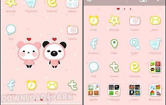Pink love go launcher theme