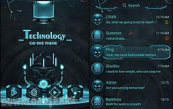 (free) go sms technology theme