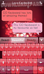 love keyboard theme