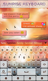 sunrise go keyboard theme