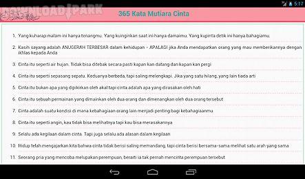 365 Kata Mutiara Cinta Android Anwendung Kostenlose Herunterladen In Apk
