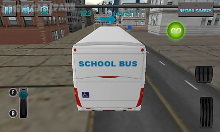 3d school bus driving