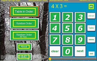 Multiplication tutor