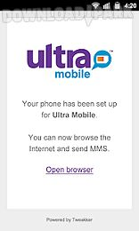 ultra mobile phone setup