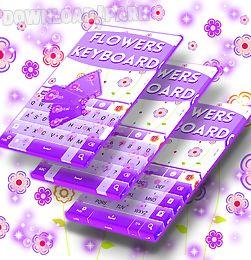 flowers keyboard theme