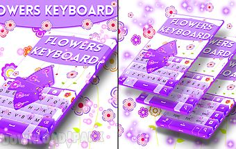 Flowers keyboard theme