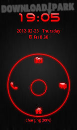 go locker theme red tech