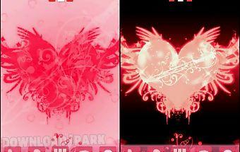 Go launcher theme love heart