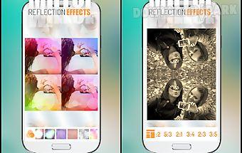 Mirror photo reflection effect