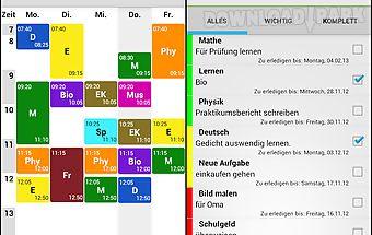 School schedule deluxe retro
