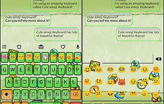 Doodle style emoji keyboard