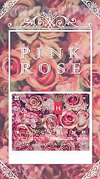 pink rose emoji kika keyboard