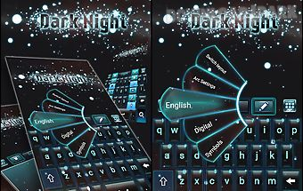 Dark night go keyboard