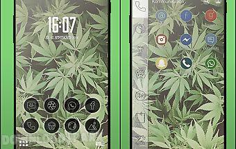 Kush weed smart launcher theme