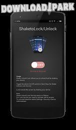 shake to lock/unlock