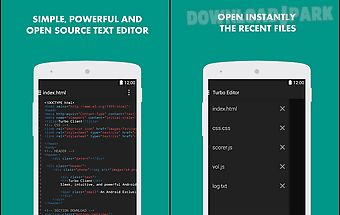 Turbo editor ( text editor )