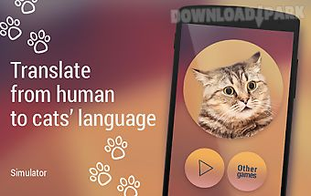 Translator for cats simulator