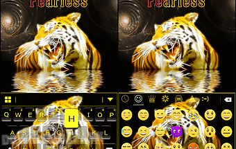 Fearless emoji keyboard theme