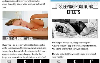 Sleep positions health effects