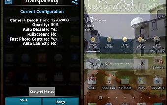 Transparent phone camera