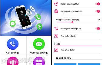 Speak caller id and message