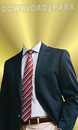 smart men suit photo montage