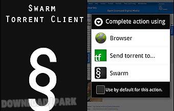 Swarm torrent client