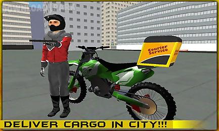 modern bike cargo delivery 3d
