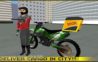 Modern bike cargo delivery 3d