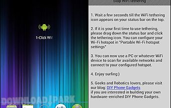 1-click wifi tether no root