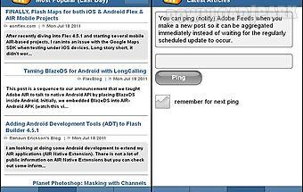 Adobe feeds mobile