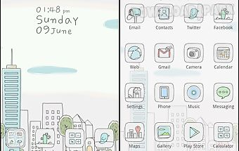 Line city go launcher theme