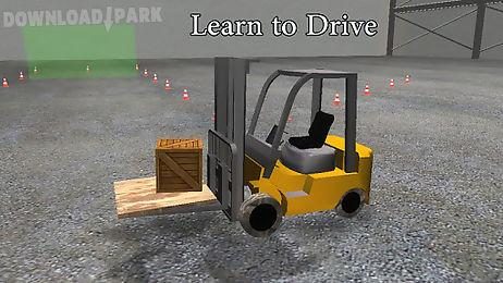 3d forklift parking driving