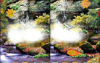 3d autumn waterfall wallpaper