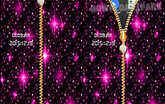 Glitter zip screen lock