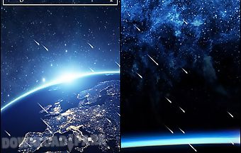 Meteor shower by top live wallpa..