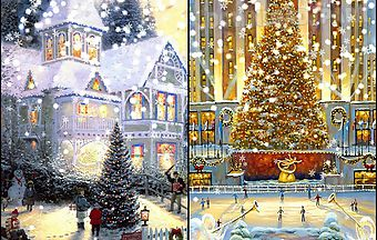 Painted christmas
