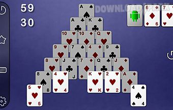 Smooth pyramid solitaire