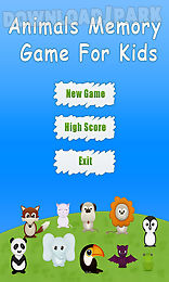 animals memory game for kids - free