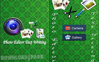 Photo editor text writing for an..